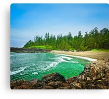 Coast of Pacific ocean in Canada Canvas Print