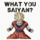 What you Saiyan??? by D77TheDigArtisT
