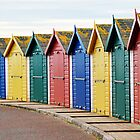 Beach Huts at Dawlish Warren, Devon by Photography  by Mathilde