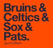 Loyal to Boston (Navy Print) Kids Clothes