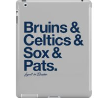 Loyal to Boston (Navy Print) iPad Case/Skin