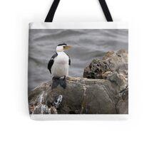 "Little Pied Cormorant ~ ""Like a Shag on a rock"" Tote Bag"