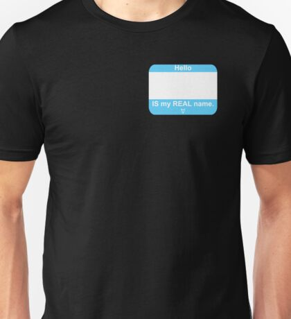 This IS My Real Name (Transmale Blue) Unisex T-Shirt