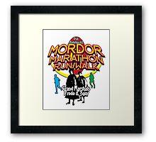 Mordor Marathon Framed Print