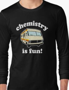 Funny - Chemistry Is Fun! (Br Ba) Distressed Vintage Design Long Sleeve T-Shirt