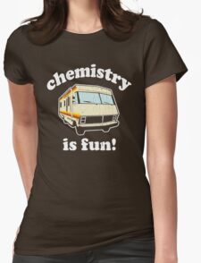 Funny - Chemistry Is Fun! (Br Ba) Distressed Vintage Design Womens Fitted T-Shirt