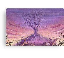Landscape Lonely Tree Canvas Print