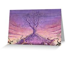 Landscape Lonely Tree Greeting Card