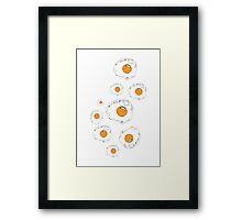 Raining Eggs Framed Print