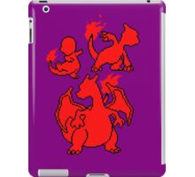 Fire Kanto Starters Silohouette iPad Case/Skin