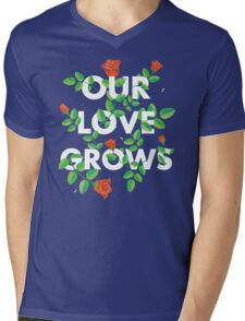 Our Love Grows Mens V-Neck T-Shirt