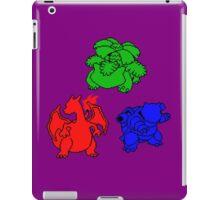 Kanto Coloured Silohouette Starters (Triangle) iPad Case/Skin