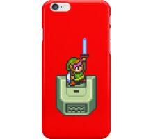 Link holding Master Sword iPhone Case/Skin