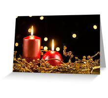 Christmas candles Greeting Card