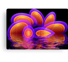 Neon eggs in the water Canvas Print