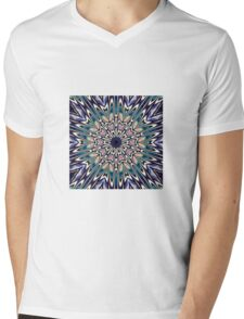 Star Burst Mens V-Neck T-Shirt