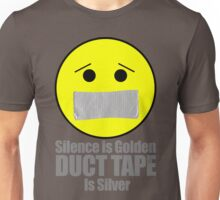 Silence is golden duct tape is silver emoji Unisex T-Shirt