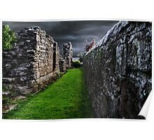 The Old Walls In Fife Scotland, Poster