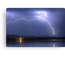 Electrical Arcing Sky Canvas Print