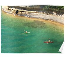 Kayakers at Miner's Castle Poster