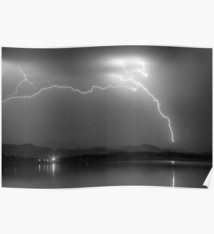 Electrical Arcing Night Sky  Poster