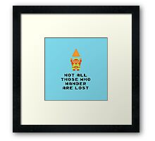 Lord of the Zelda Rings Framed Print