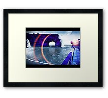 Natural BLue Framed Print