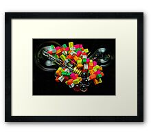 Bulbs and Blocks Framed Print