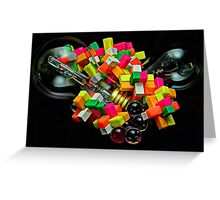 Bulbs and Blocks Greeting Card