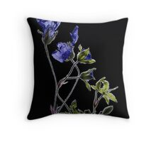 Withered flowers Throw Pillow