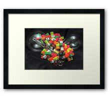 Blocks and Bulbs Framed Print