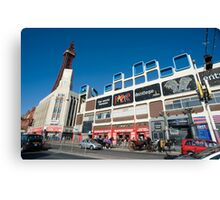Busy street scene in Blackpool Canvas Print