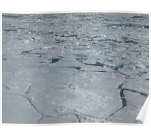 Frozen River Caps Poster
