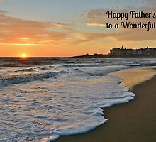 Porthcawl Sunset Father's Day Card by Paula J James