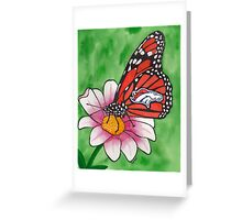 Denver Broncos Butterfly Greeting Card