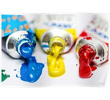 Painting Colors Tubes  Poster