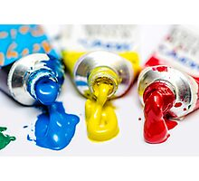 Painting Colors Tubes  Photographic Print