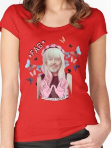 steve buscemi is a pastel goth girl Women's Fitted Scoop T-Shirt