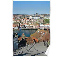 199 Steps in Whitby Poster