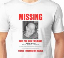"Breaking Bad ""Missing"" Poster Unisex T-Shirt"