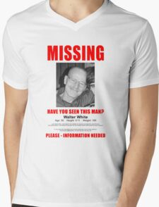 """Breaking Bad """"Missing"""" Poster Mens V-Neck T-Shirt"""