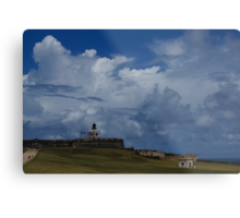 Dramatic Tropical Sky Over Old San Juan, Puerto Rico Metal Print