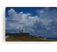 Dramatic Tropical Sky Over Old San Juan, Puerto Rico Canvas Print