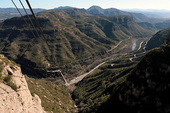 The View From The Cable Car - Montserrat, Spain by rsangsterkelly