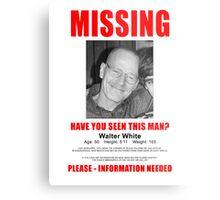 "Breaking Bad ""Missing"" Poster Metal Print"