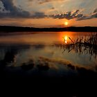 Sunset at Lake Kochelsee by Daidalos