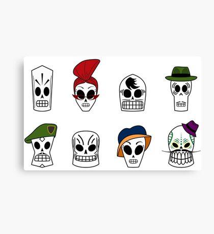 Grim Fandango Skulls Canvas Print