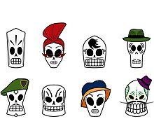 Grim Fandango Skulls Photographic Print