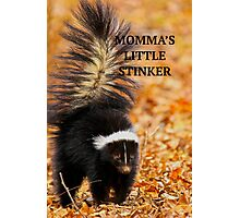 MOMMA'S LITTLE STINKER Photographic Print