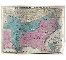 Civil War Maps 0573 Lloyd's new military map of the border southern states Poster